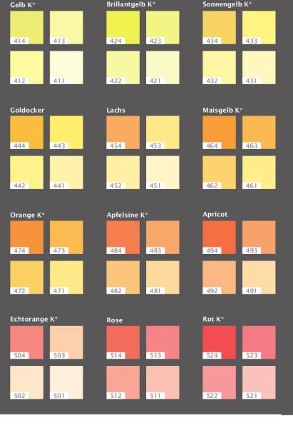 Farbkarte Pigmente Casa Natura