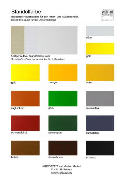 Farbkarte-Standölfarben