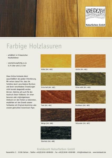 Farbkarte Holzlasuren